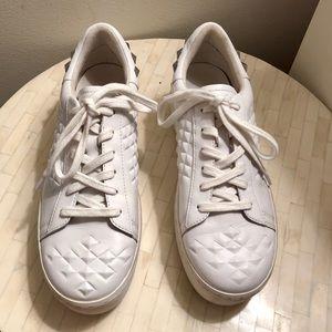 ASH - White Studded Platform Sneakers